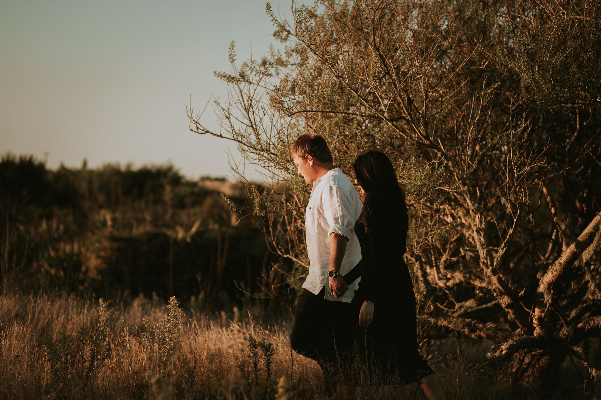 Taupo engagement shoot five mile bay sunset