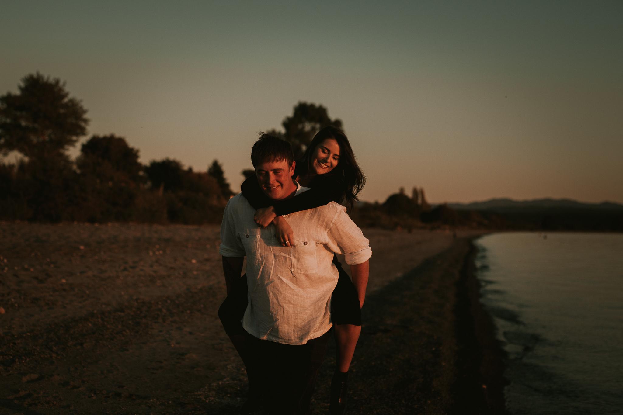 Engagement photoshoot 5 mile bay Taupo