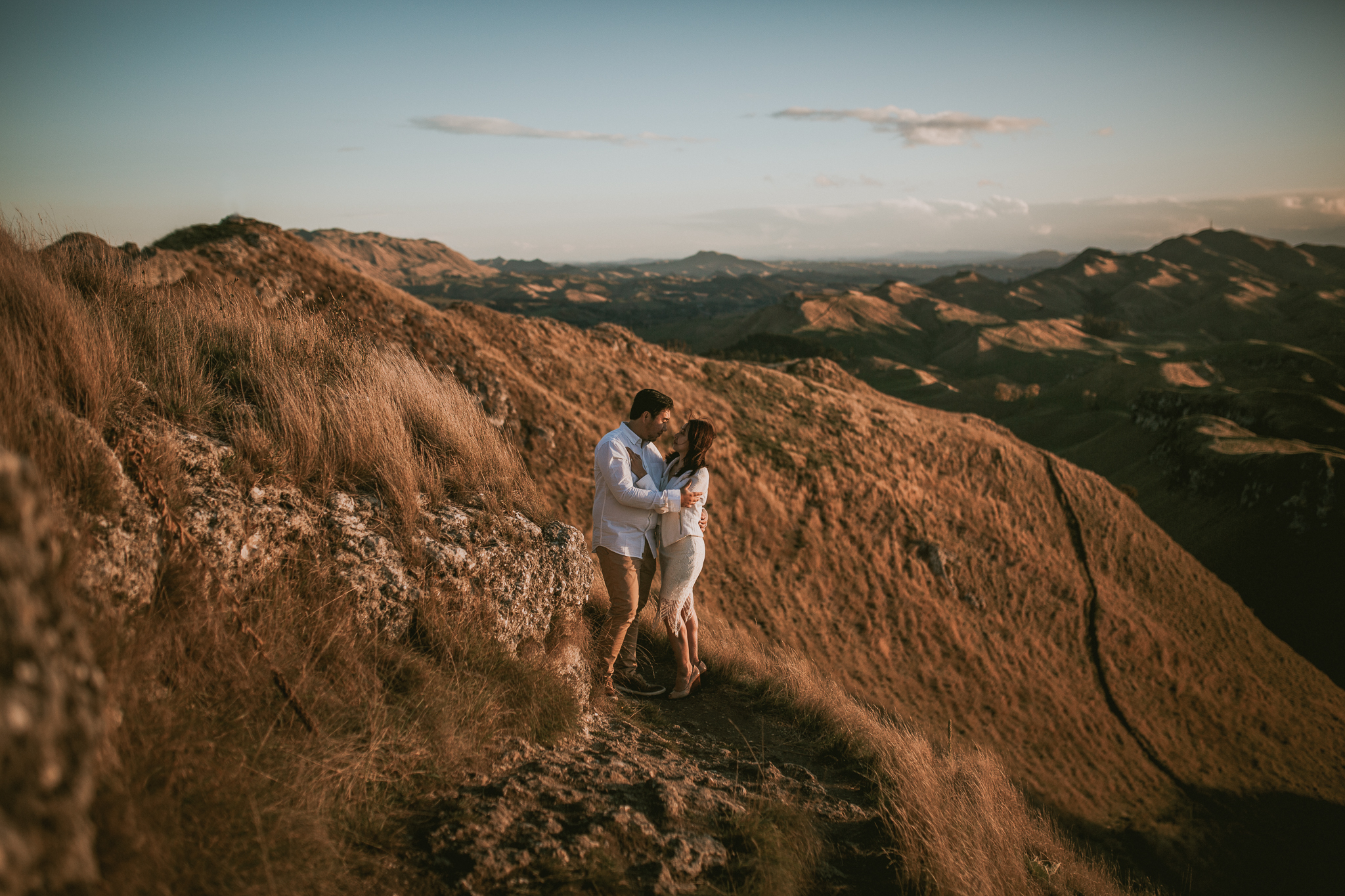 Wedding Photographers Hawkes Bay Te Mata Peak Engagement Shoot Sunset-7.jpg