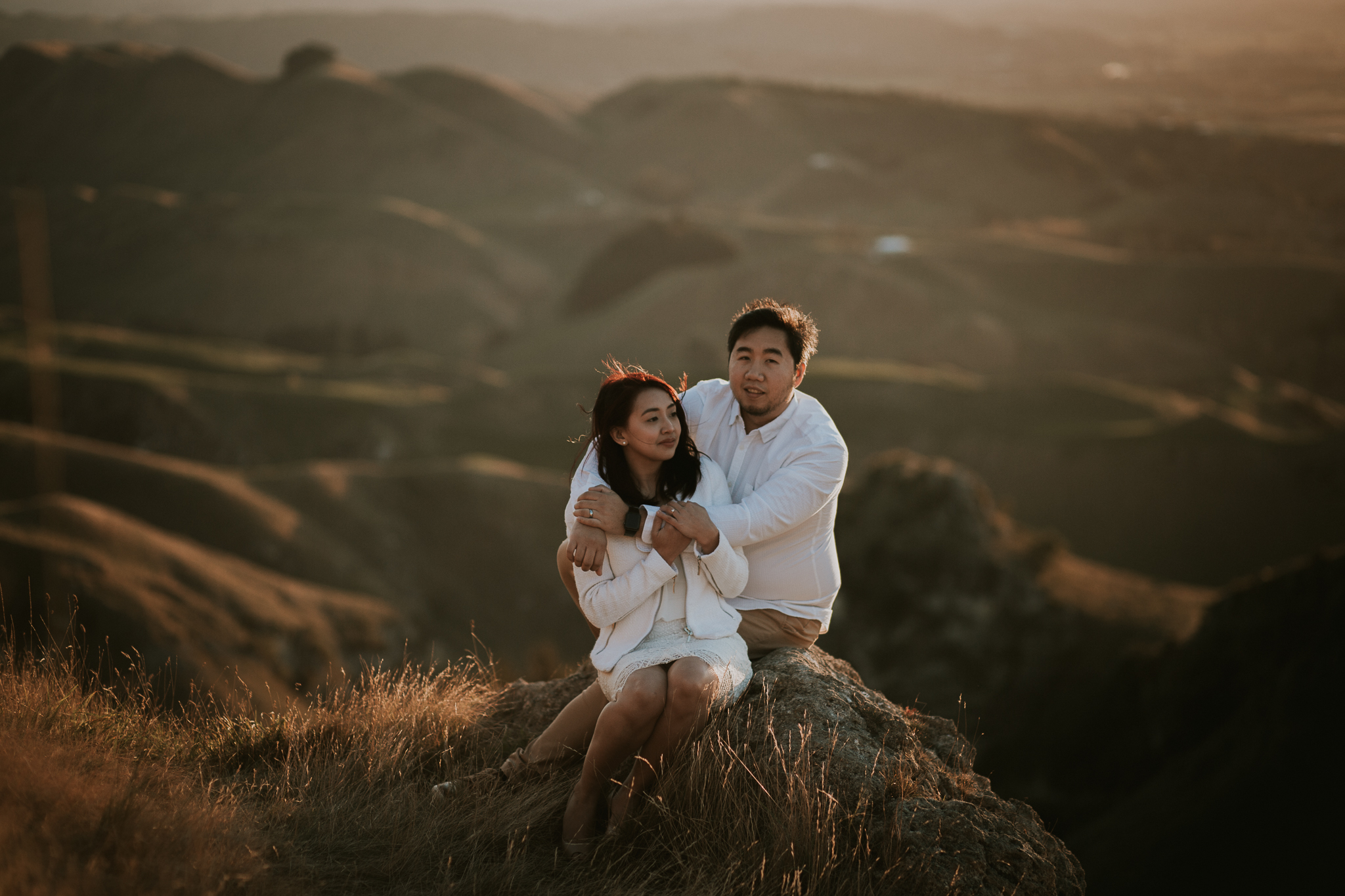 Wedding Photographers Hawkes Bay Te Mata Peak Engagement Shoot Sunset-23.jpg