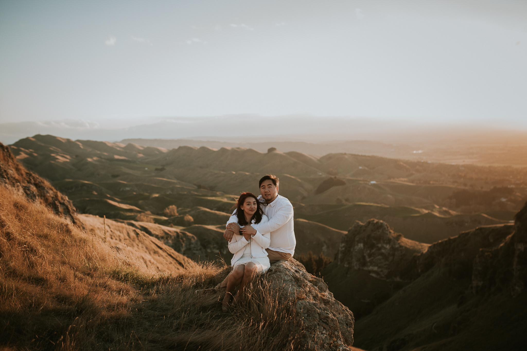 Wedding Photographers Hawkes Bay Te Mata Peak Engagement Shoot Sunset-28.jpg