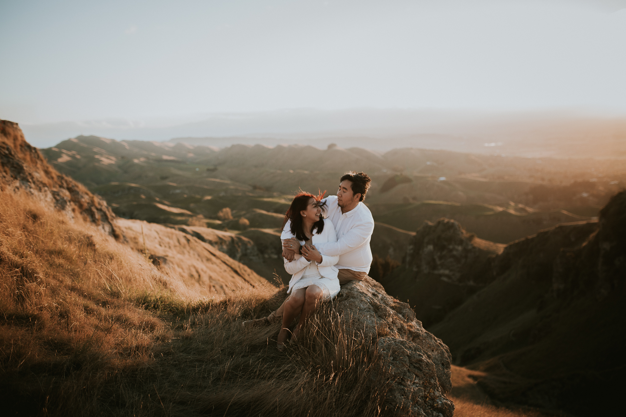 Wedding Photographers Hawkes Bay Te Mata Peak Engagement Shoot Sunset-31.jpg