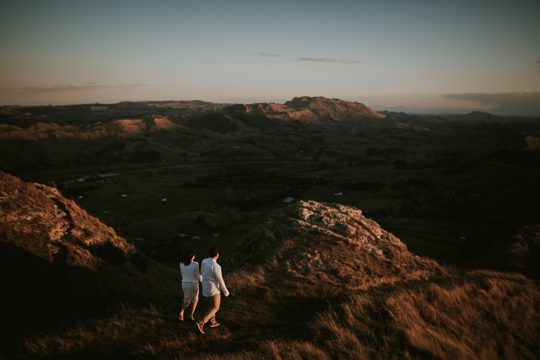 Wedding Photographers Hawkes Bay Te Mata Peak Engagement Shoot Sunset-33.jpg