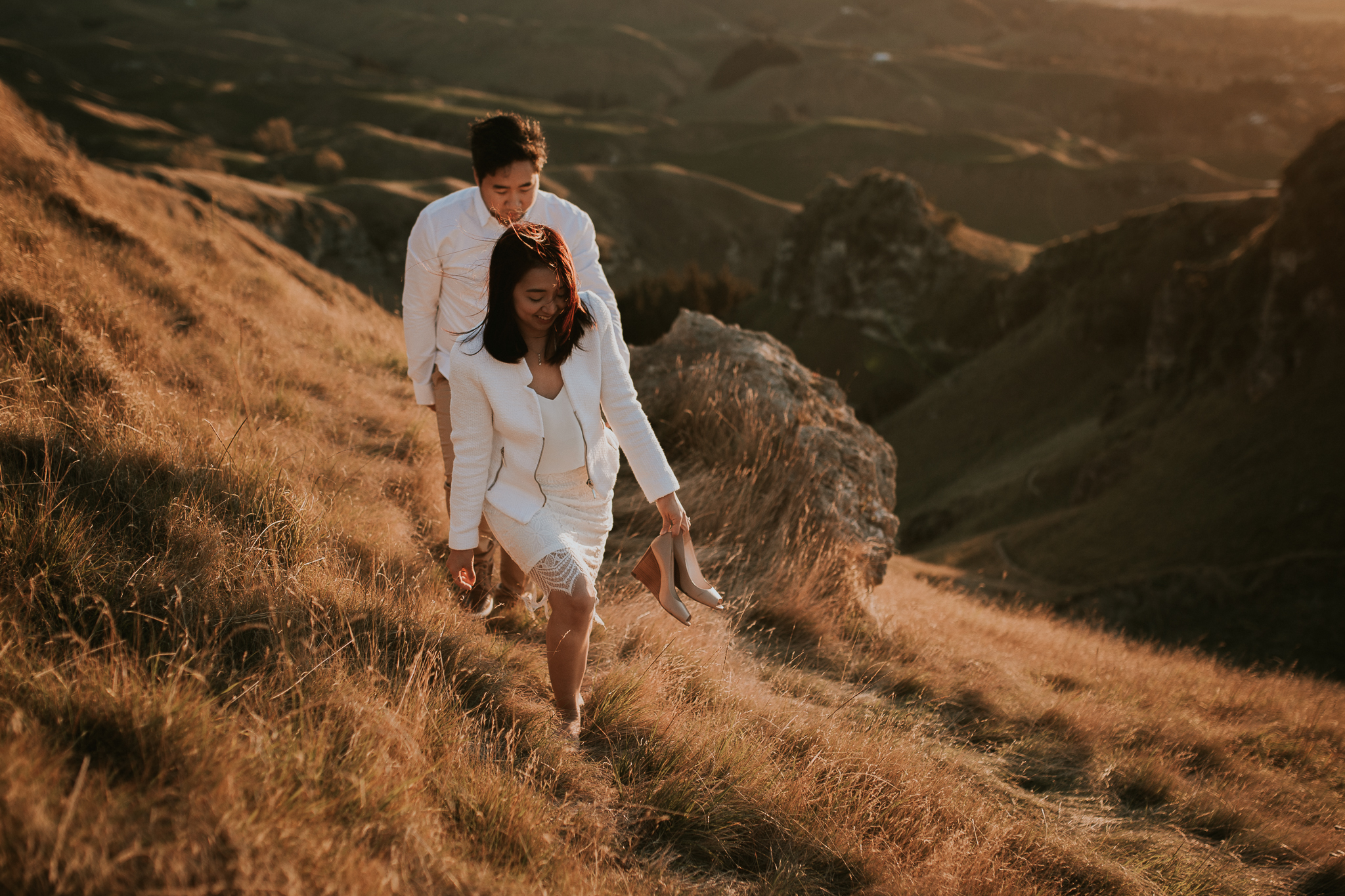 Wedding Photographers Hawkes Bay Te Mata Peak Engagement Shoot Sunset-32.jpg