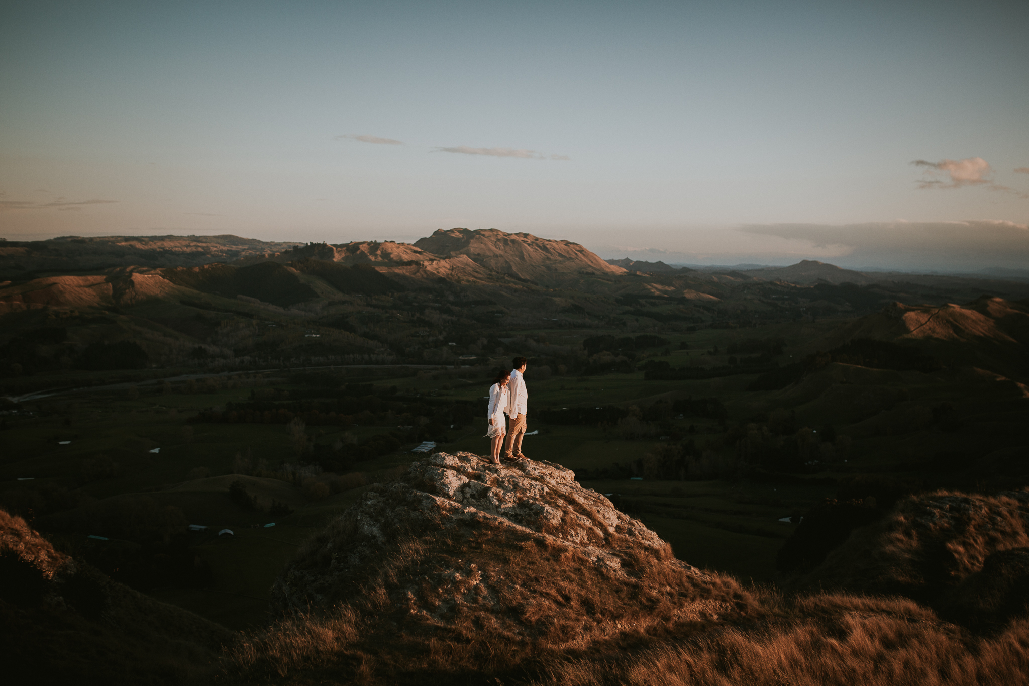 Wedding Photographers Hawkes Bay Te Mata Peak Engagement Shoot Sunset-34.jpg
