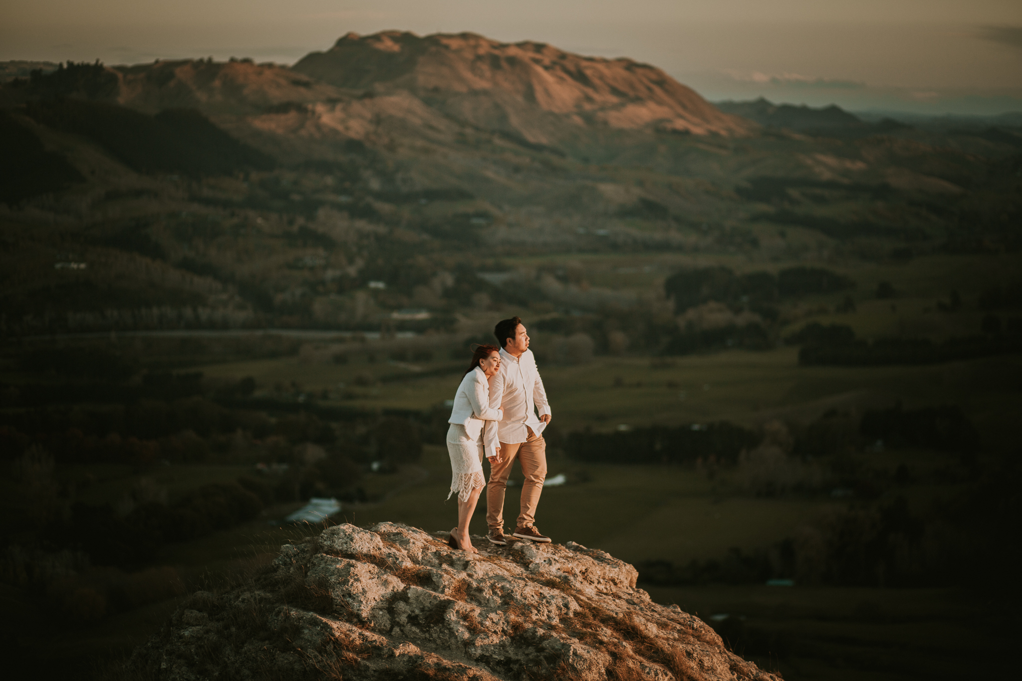 Wedding Photographers Hawkes Bay Te Mata Peak Engagement Shoot Sunset-39.jpg