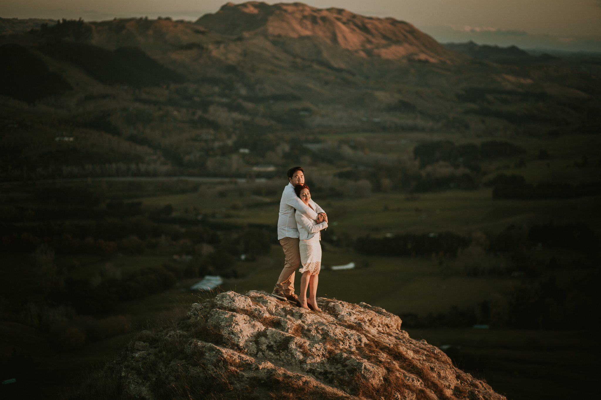 Wedding Photographers Hawkes Bay Te Mata Peak Engagement Shoot Sunset-41.jpg