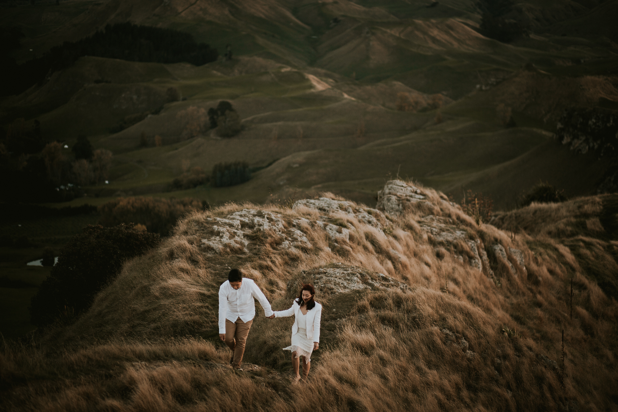 Wedding Photographers Hawkes Bay Te Mata Peak Engagement Shoot Sunset-50.jpg