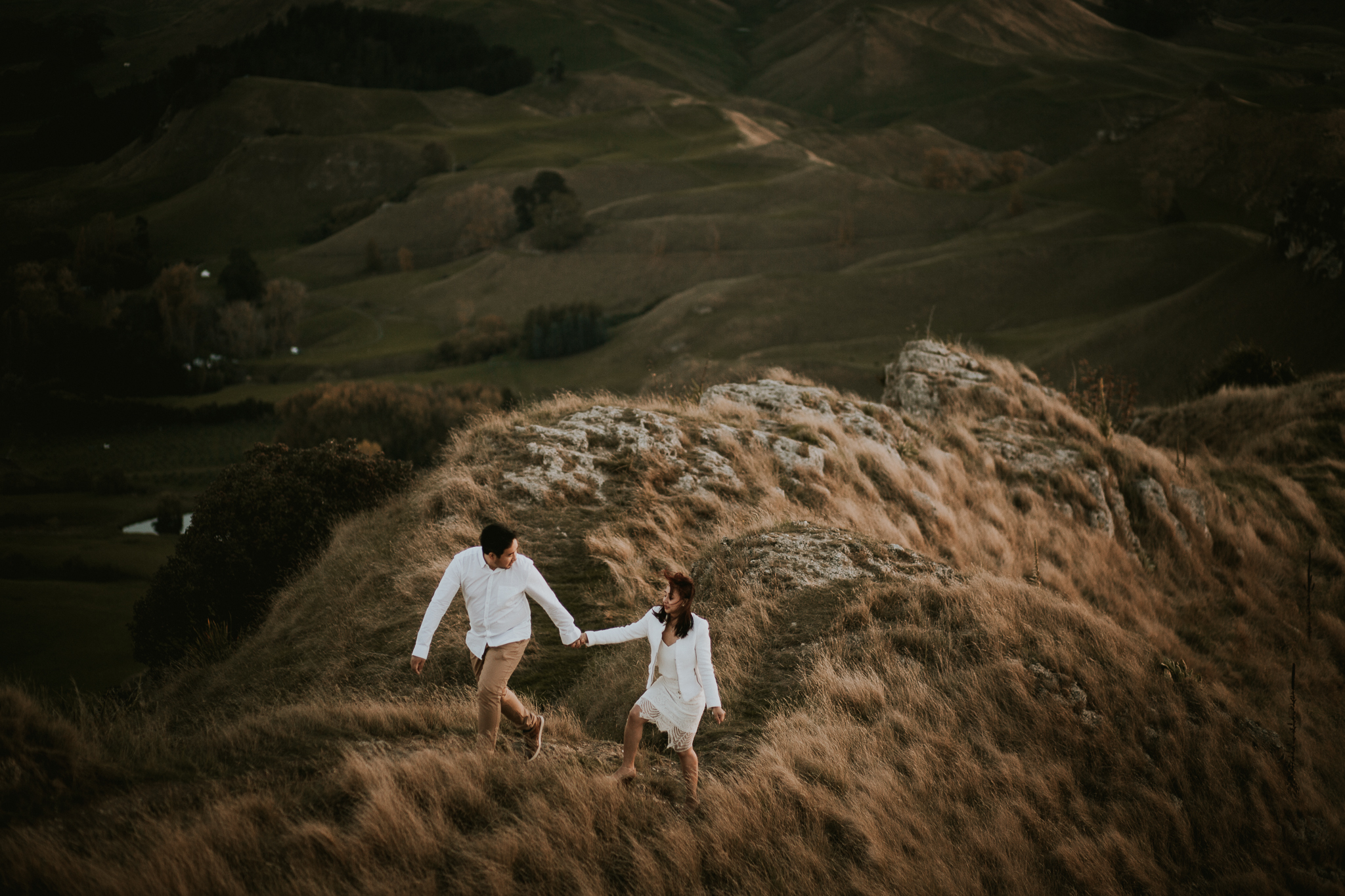 Wedding Photographers Hawkes Bay Te Mata Peak Engagement Shoot Sunset-51.jpg