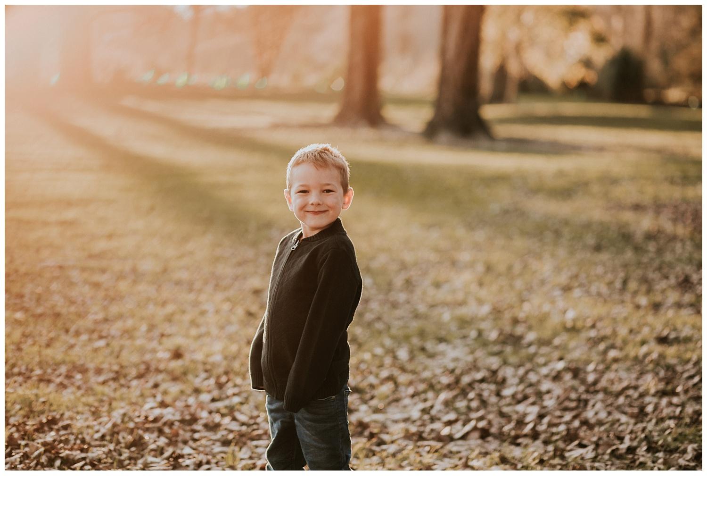 boy posing sunset photo session