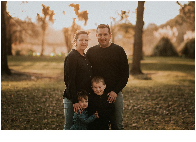family portrait evening sunset