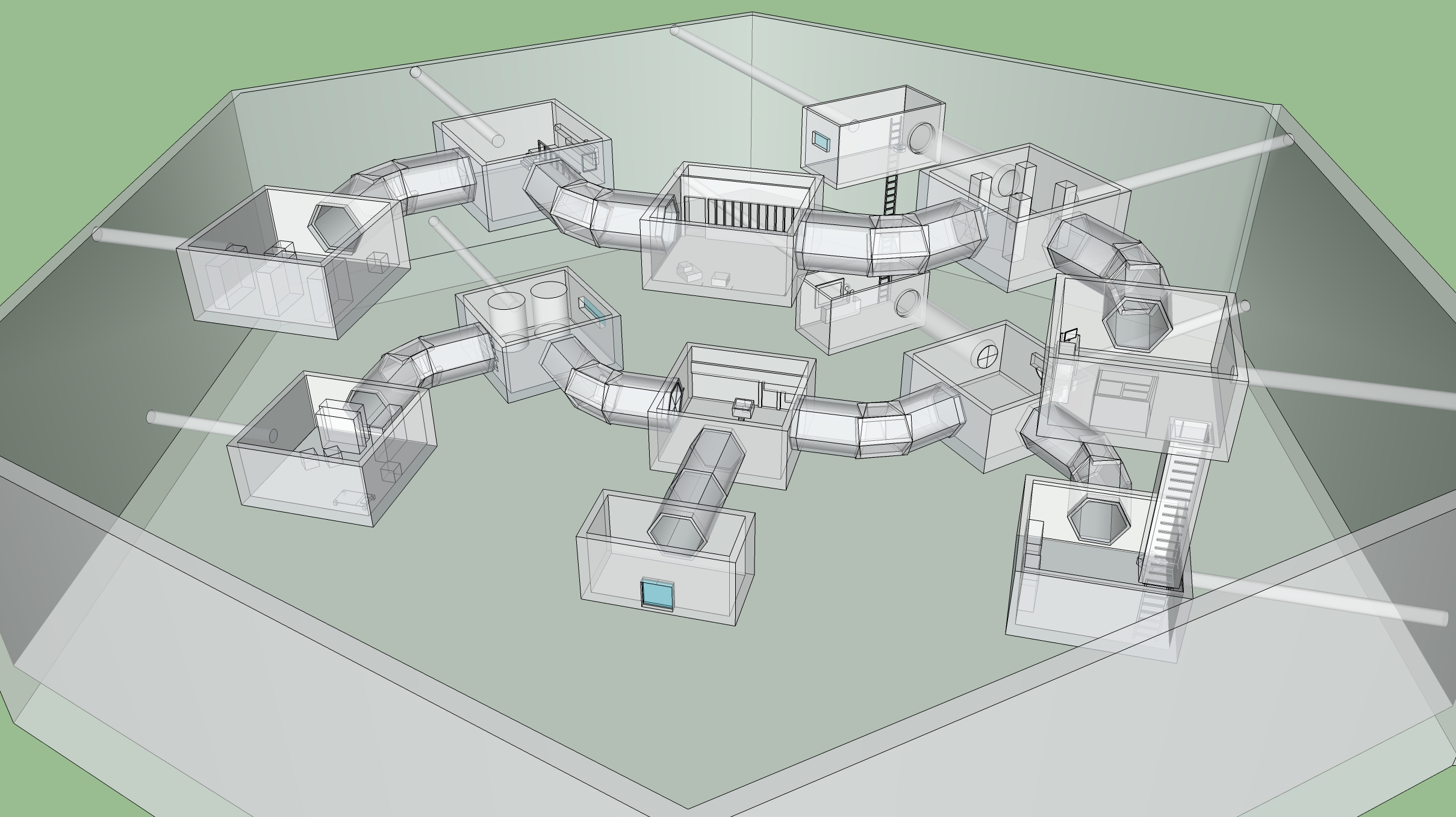 Prey (2017) - Level Design Document for a side mission inside of a fictional DLC for Arkane Studios' Prey. 3D model made with SketchUp.