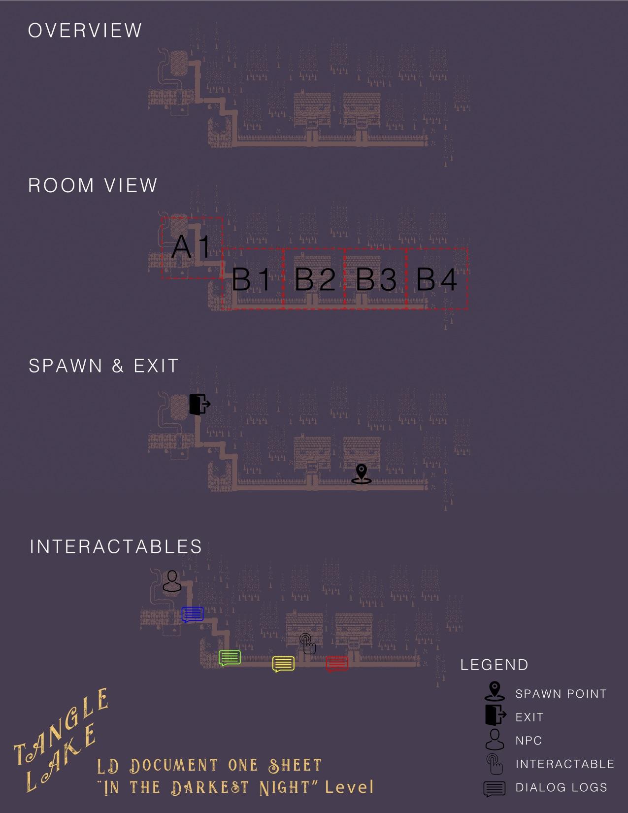 """Plan de conception pour le niveau """"In The Darkest Night"""""""