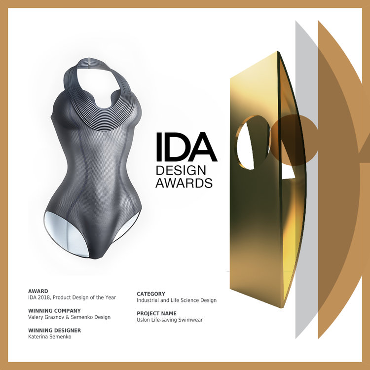 fa6ee41bda Our Uslon Lifesaving Swimwear has been selected as Product Design of the  Year and received Gold in IDA International Design Award. The award  ceremony will ...