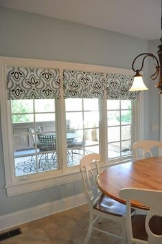 Another example of faux Roman shades (not Sew Lovely's, but I can recreate the same look!)