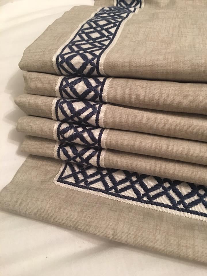 Ribbon Trim Roman Shades Using Premier Prints Jackson Macon Fabric