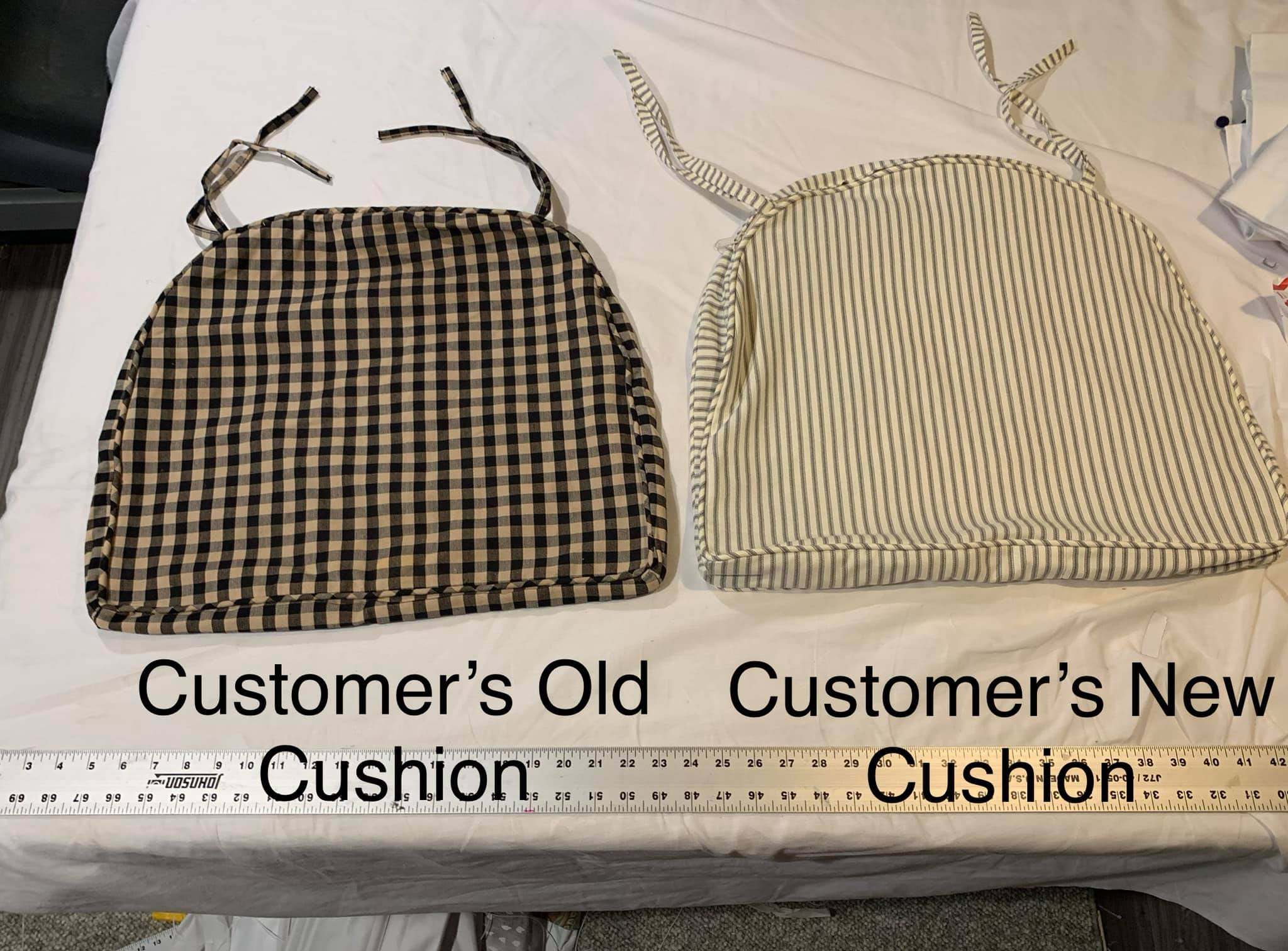 We create seat covers using your old template