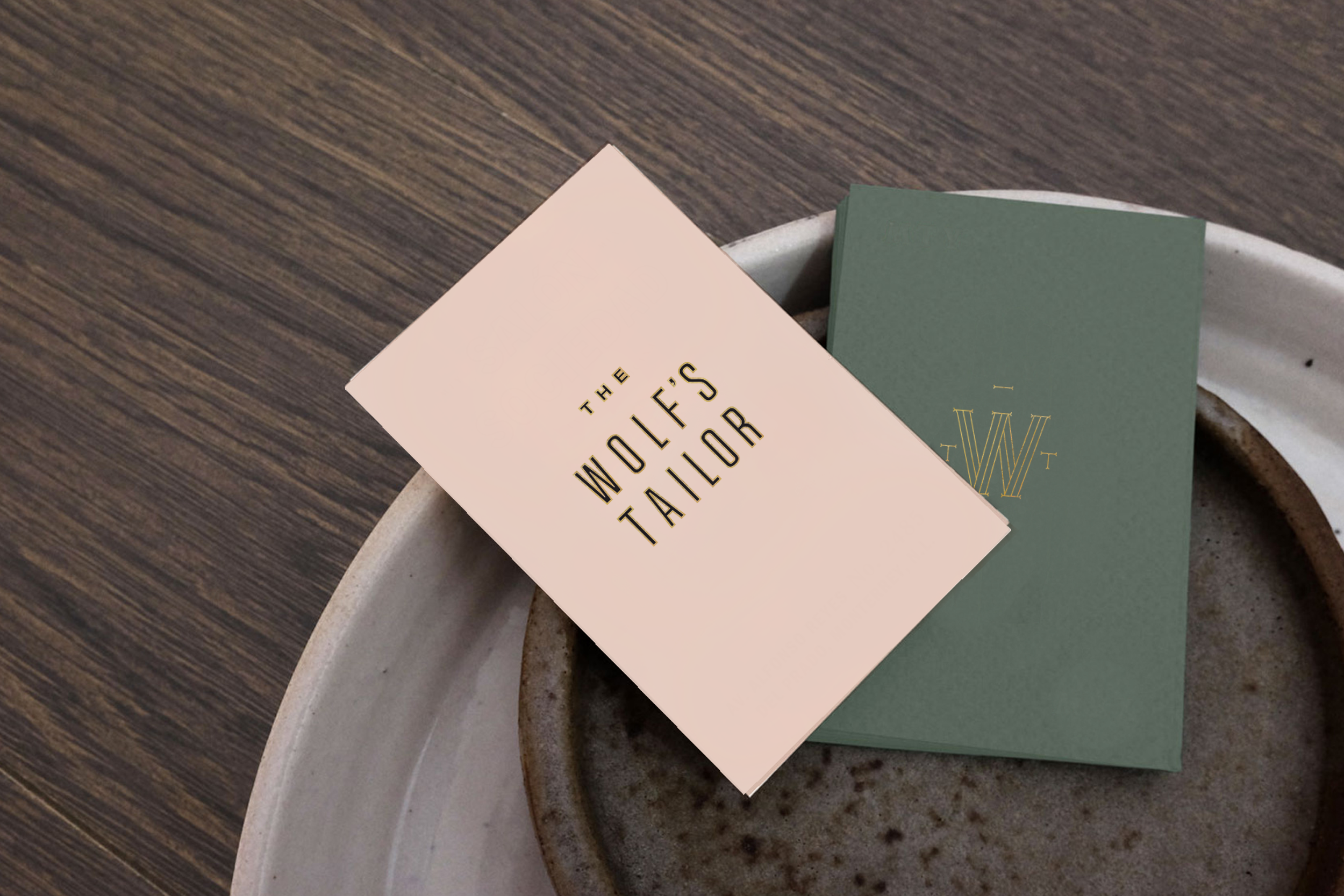 The Wolf's Tailor Business Card Design