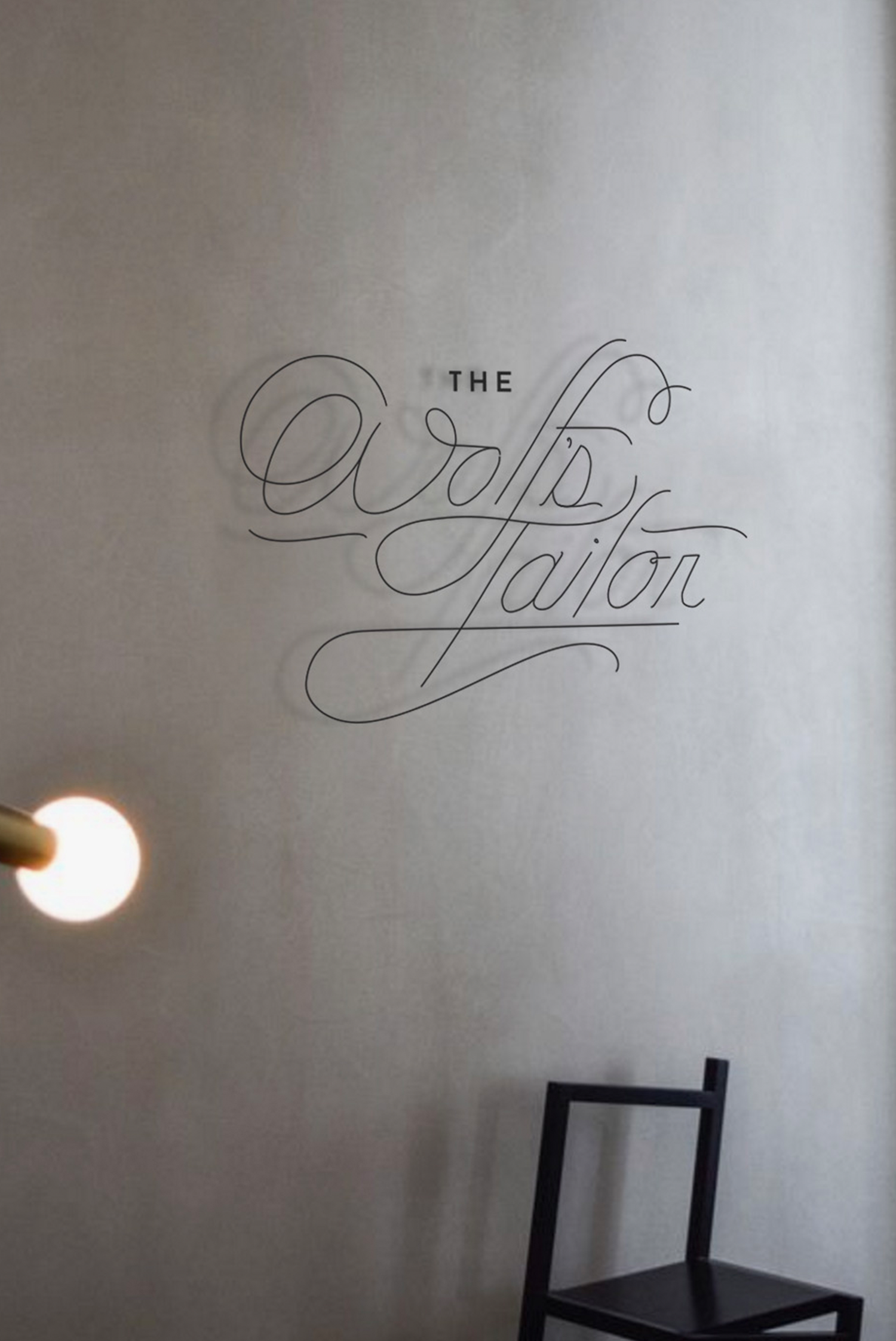 The Wolf's Tailor Custom Sign Design