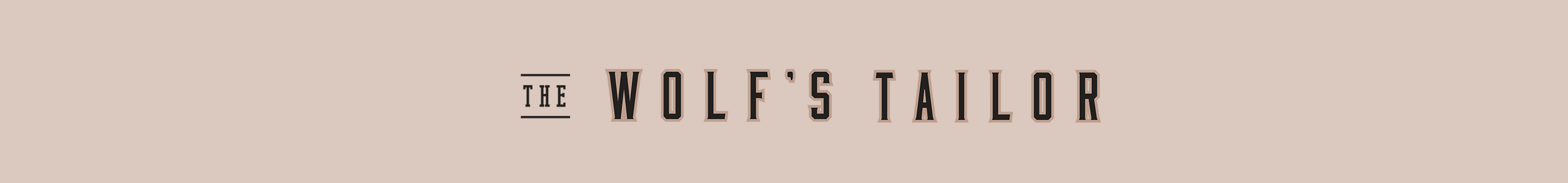 The Wolf's Tailor Horizontal Brand Mark