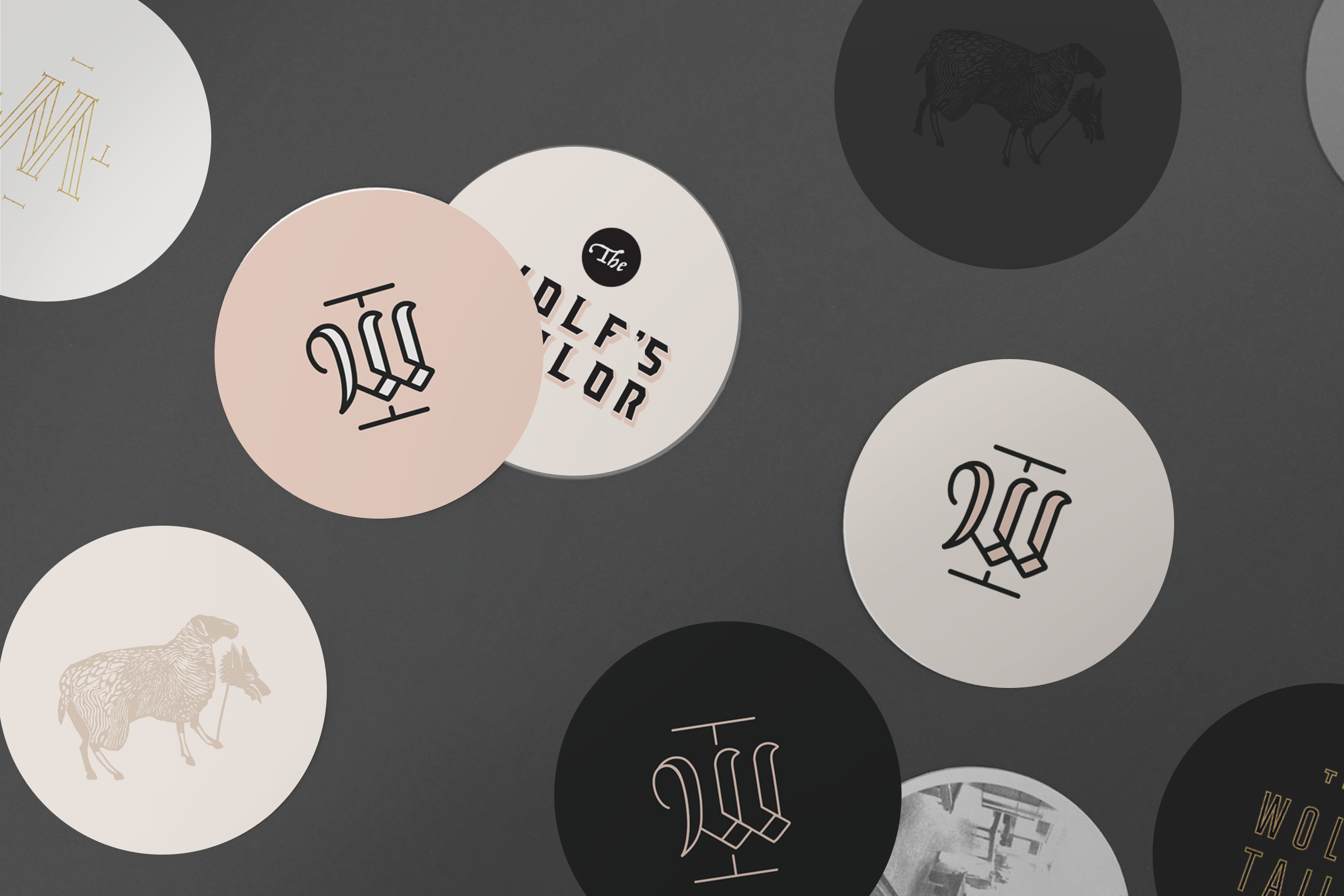 The Wolf's Tailor Branded Coasters