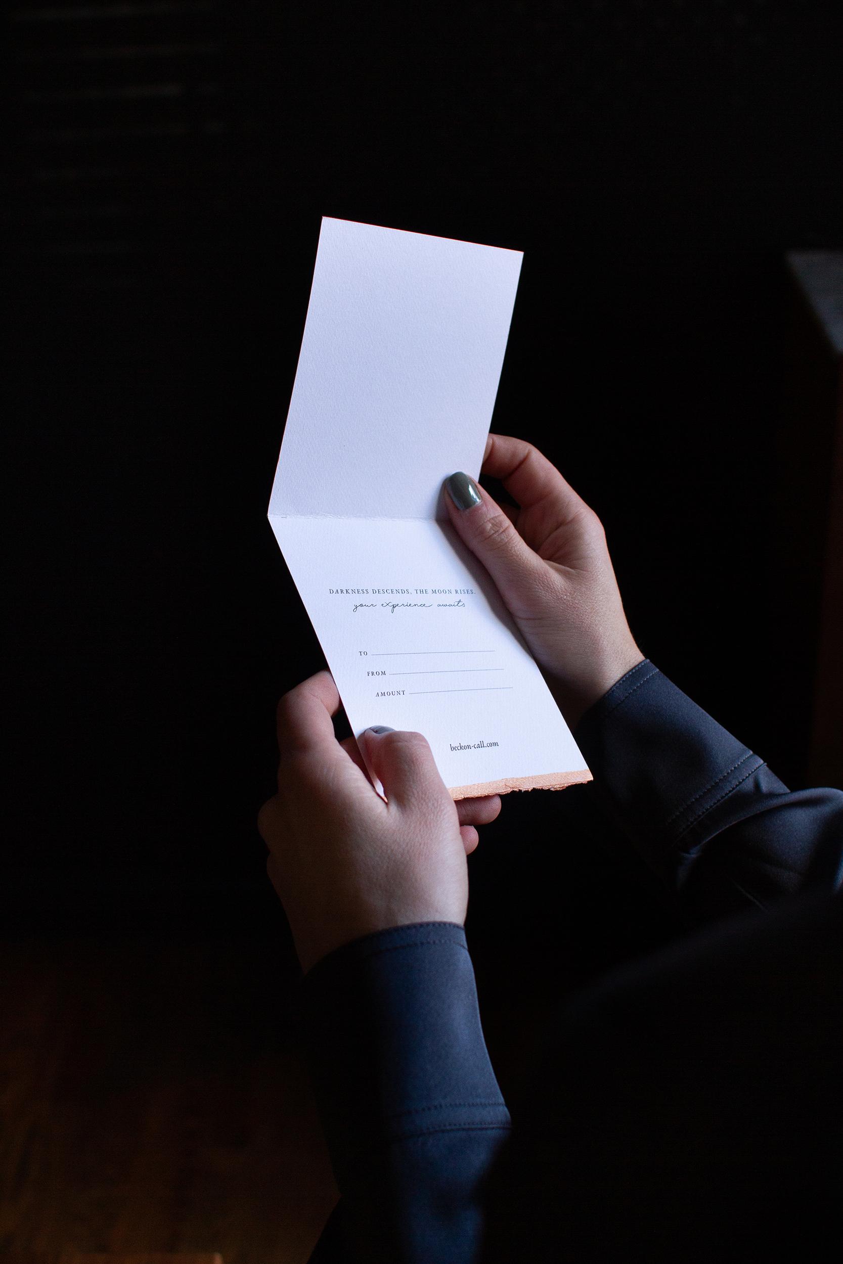Gift card – handwritten