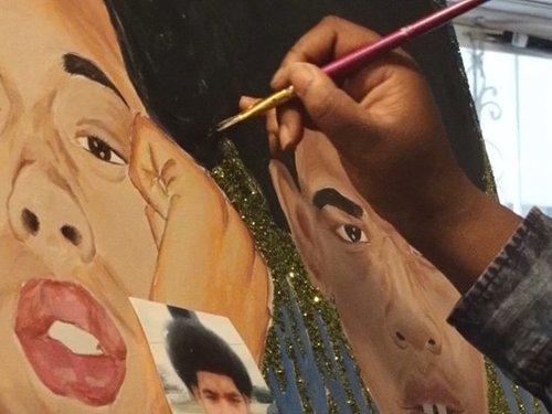 Jaylin Stewart paints portraits of homicide victims.