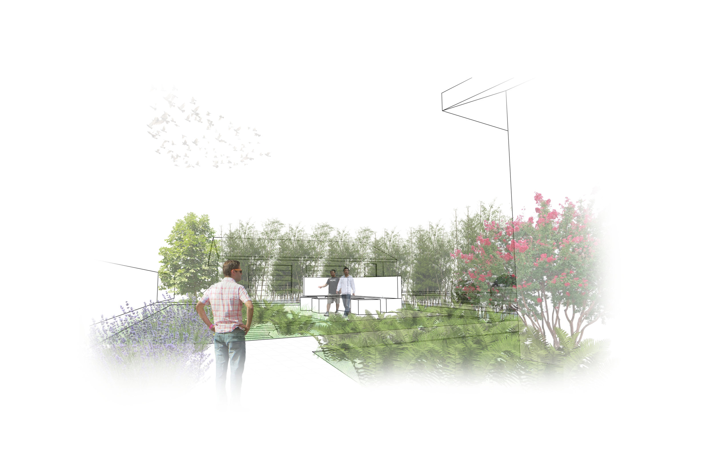 A schematic rendering helped the owner understand the potential of their large open space.