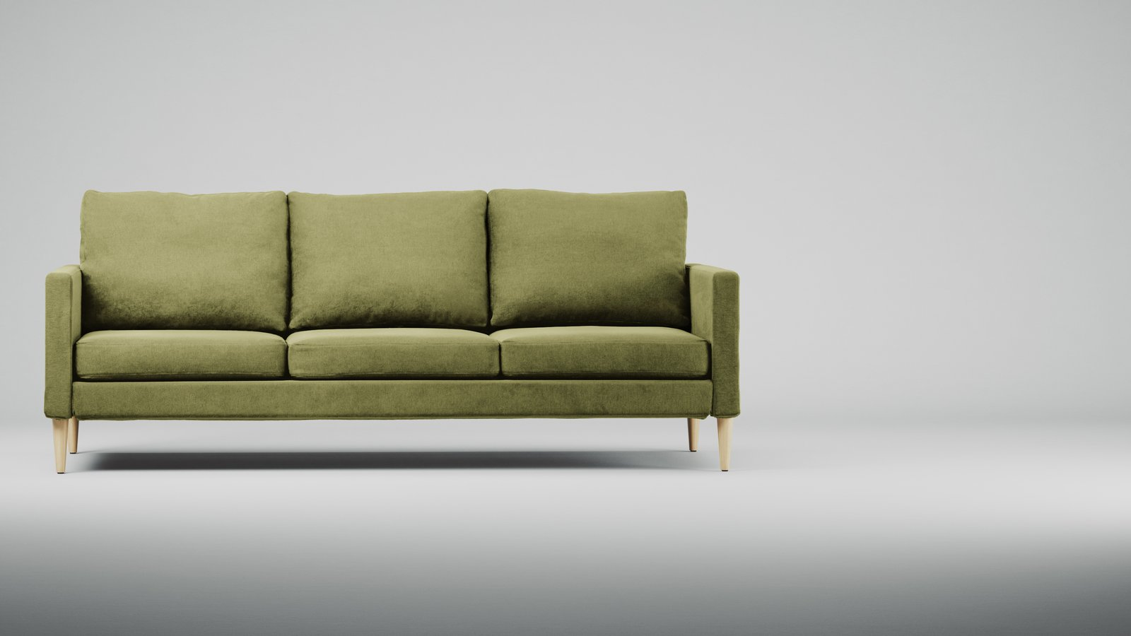 Campaign has a high quality flat pack sofa, loveseat, and chair.