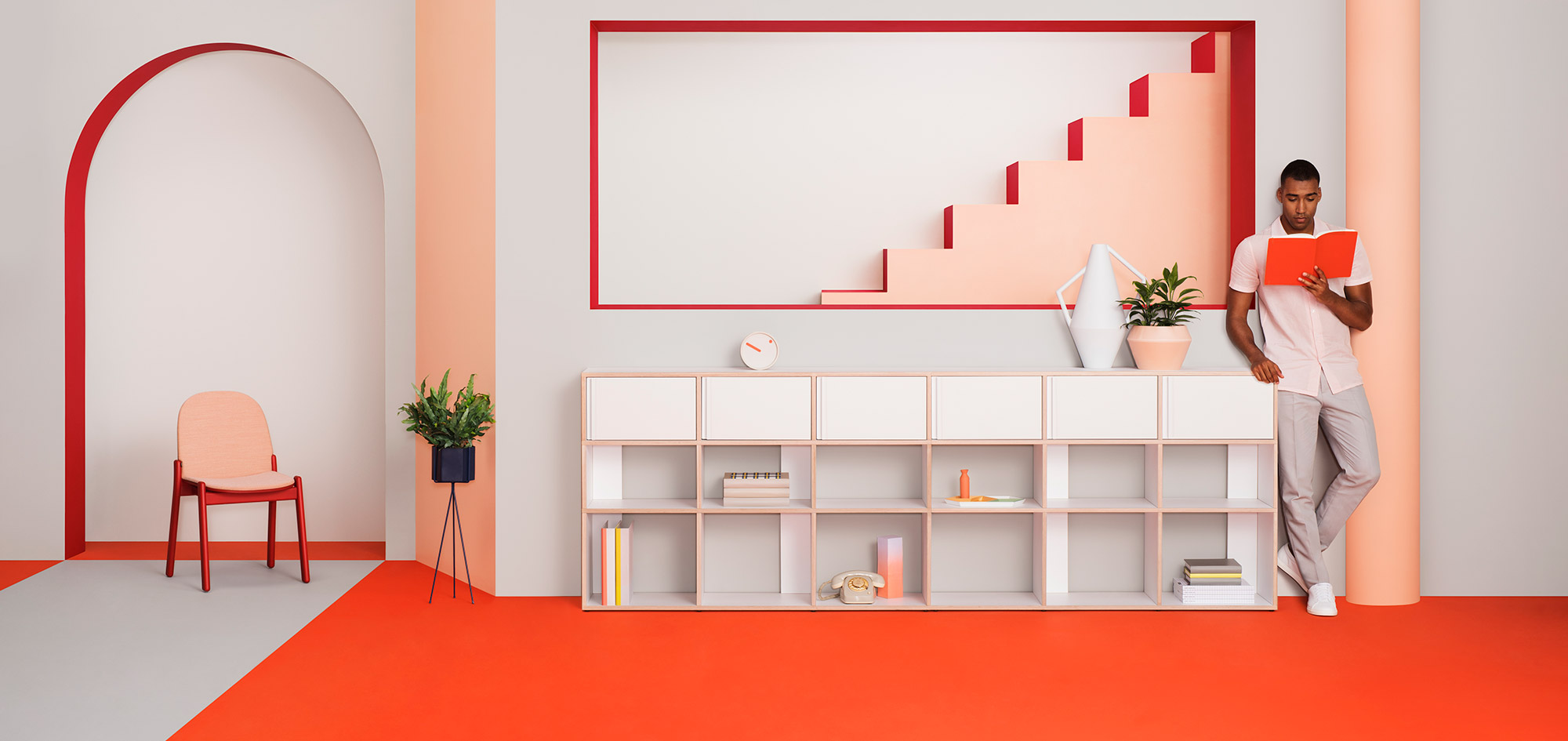 Tylko is a fully customizable shelving system that can fit in any room.