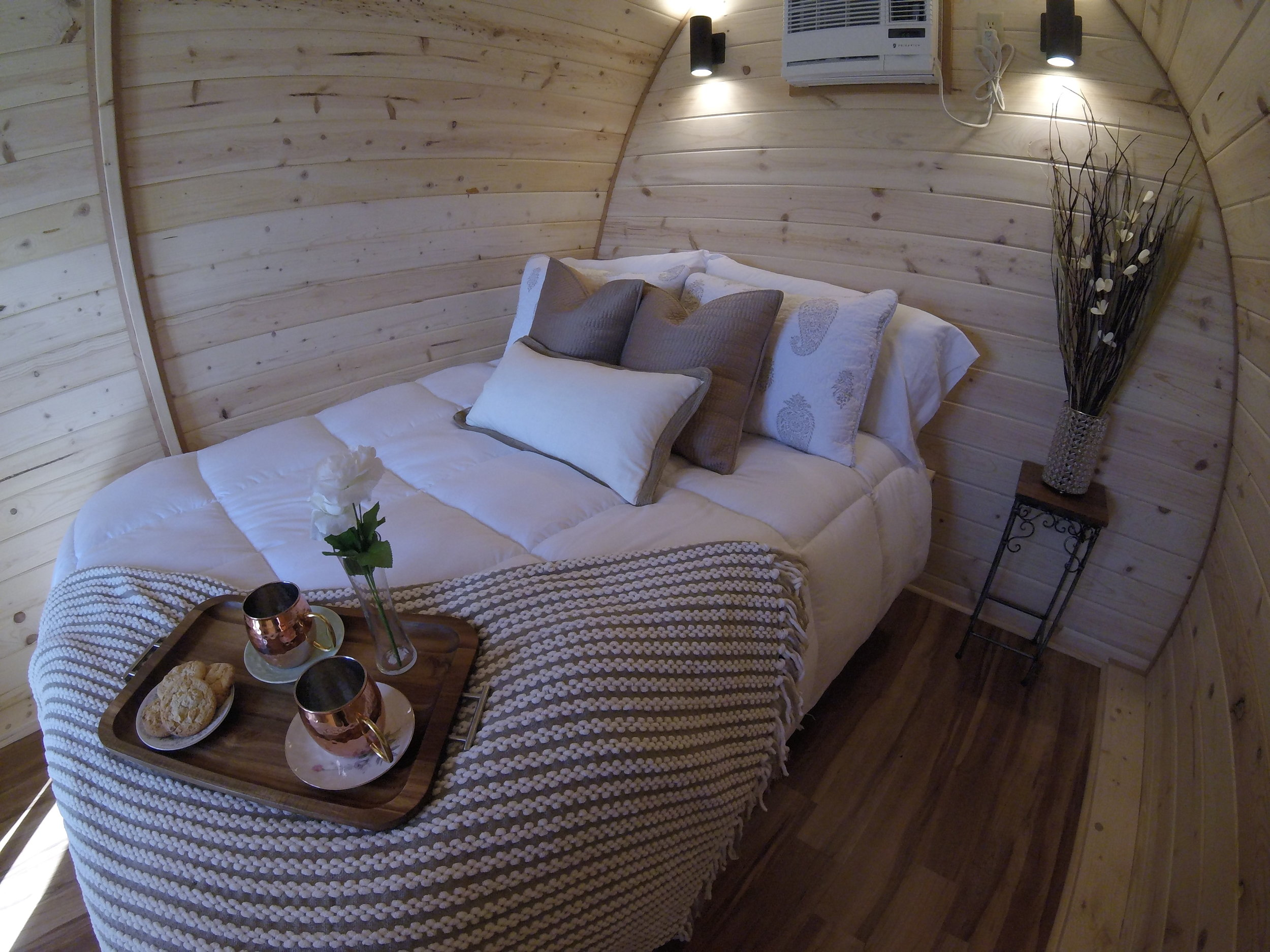Family Pod with 1 queen bed.