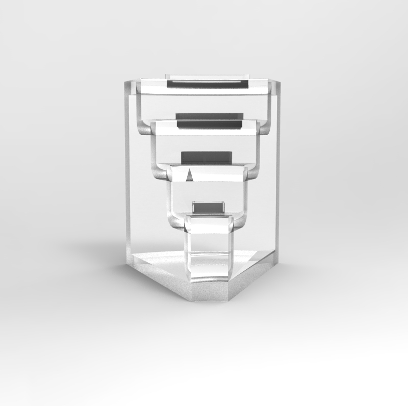Modular Stand - Single module stand for each fragrance, that could also work ensamble.
