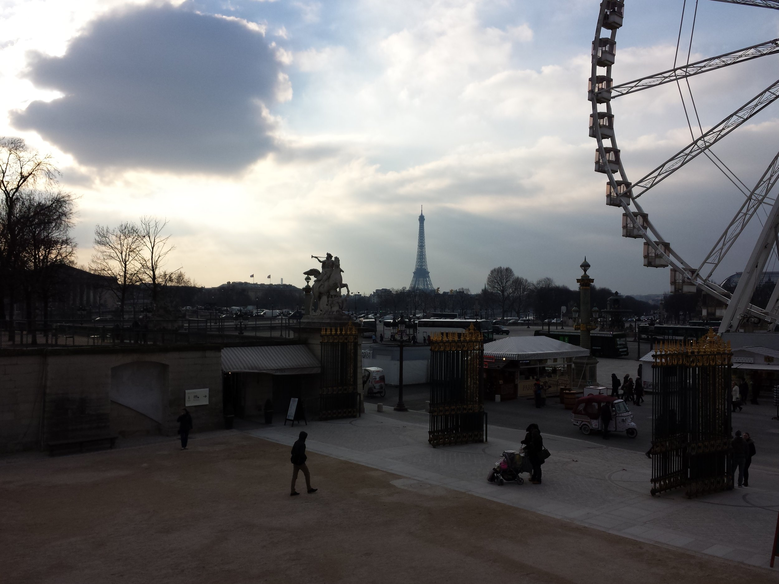 From the gardens past the Louvre, here's a view of the Eiffel Tower