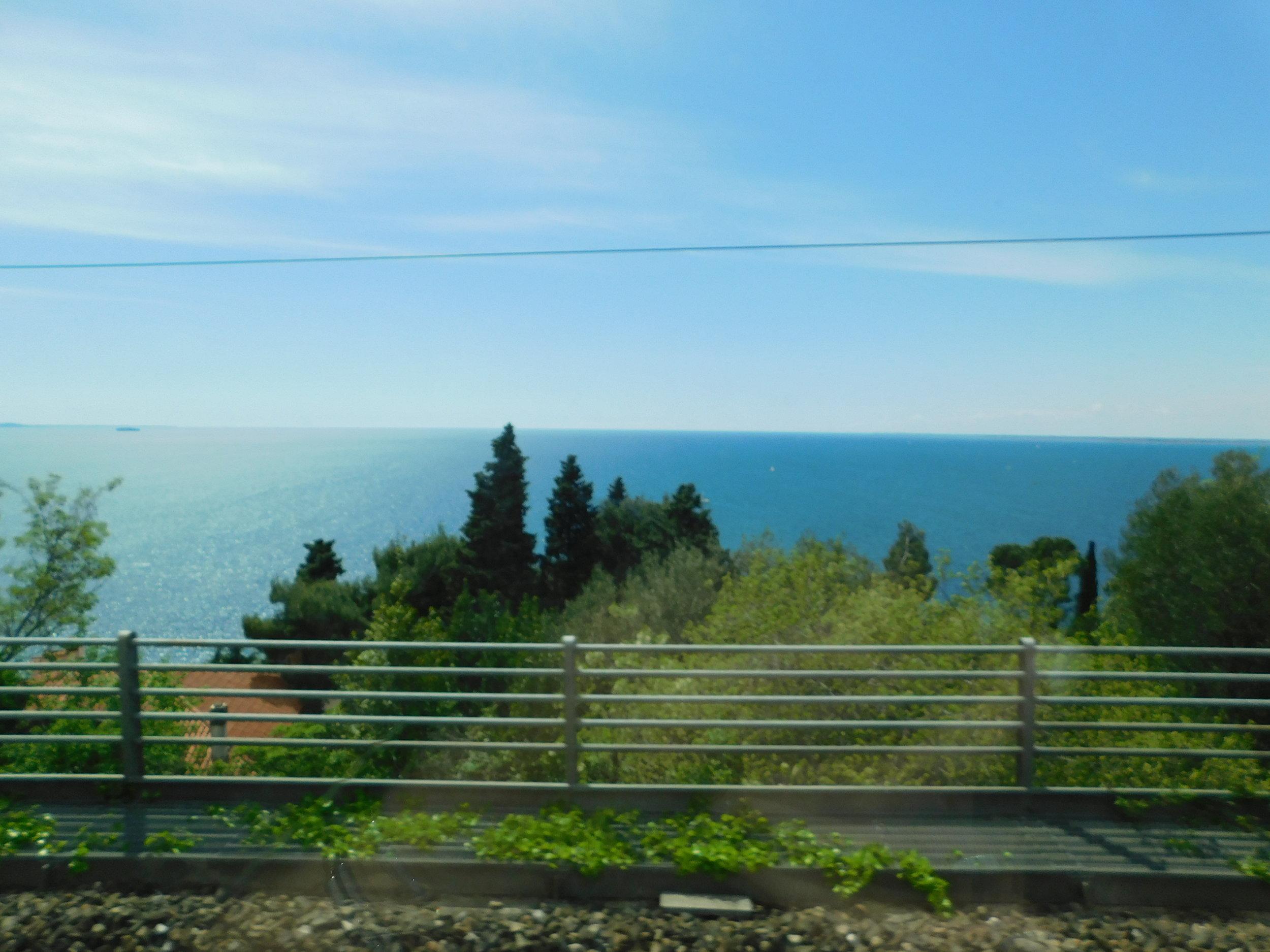 The Dalmatian Coastline from a bus between Trieste, Italy & Zadar, Croatia