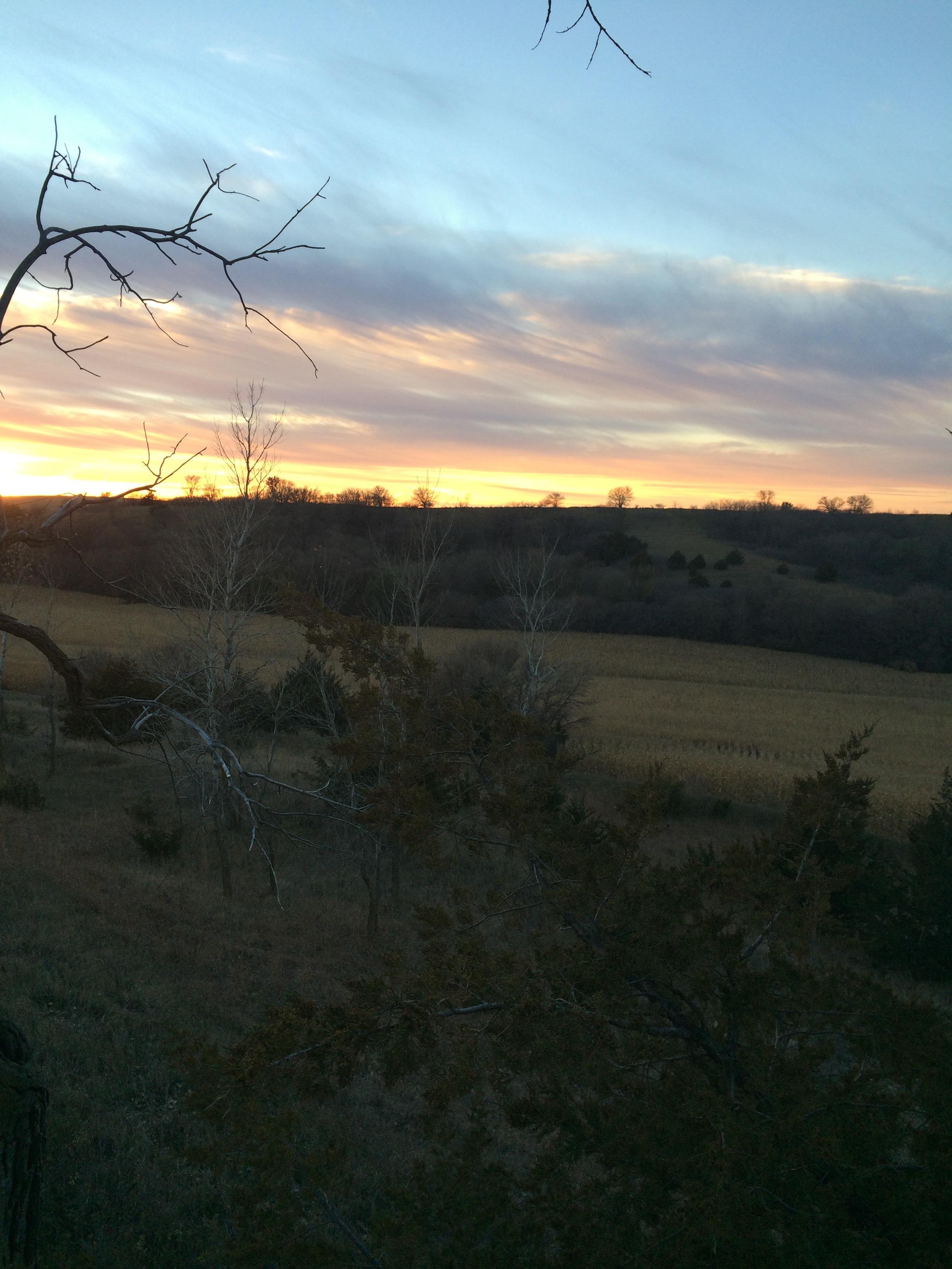 A beautiful Nebraska sunset.