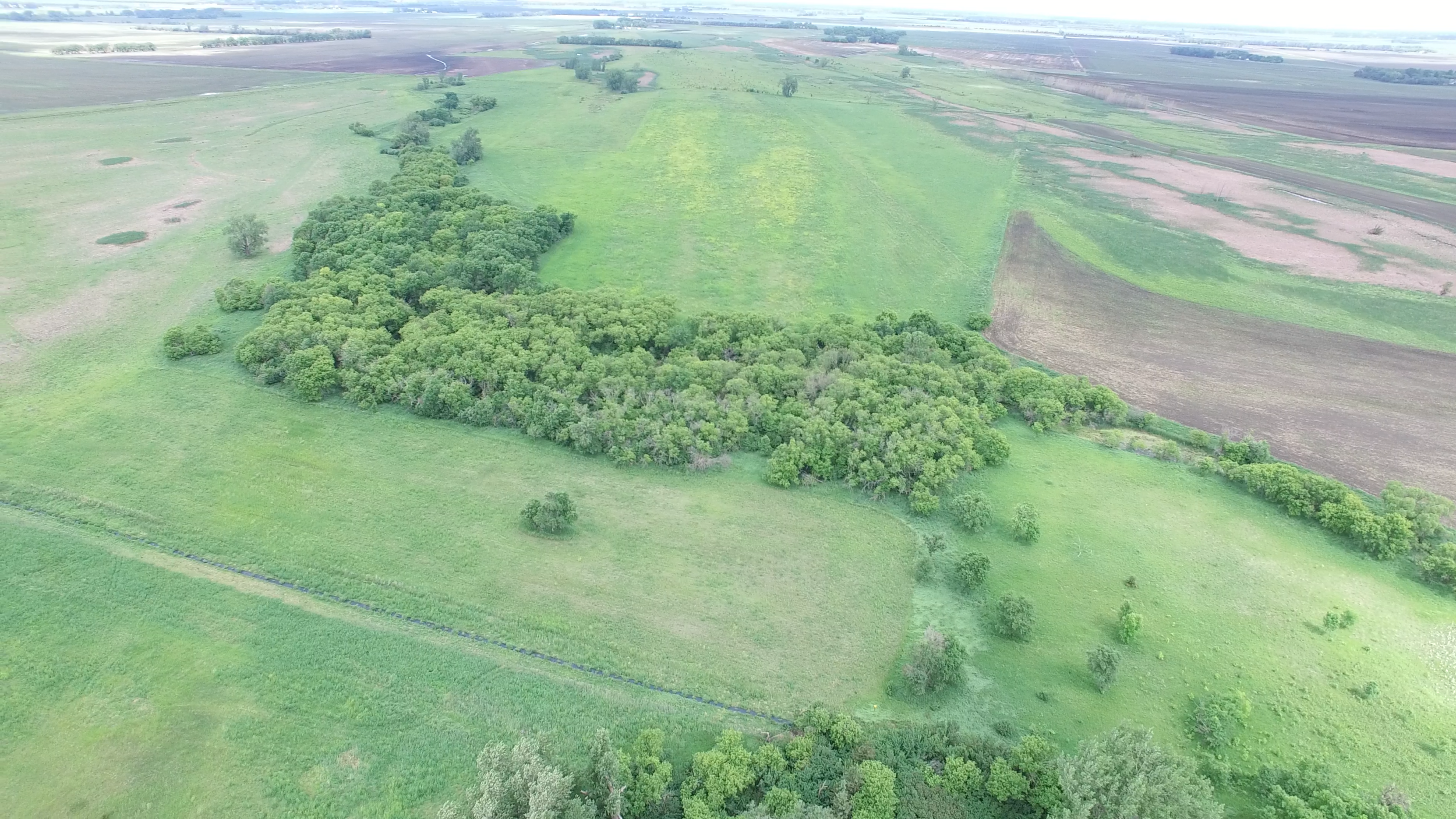 A drone can you show you exactly how a piece of property lays out.