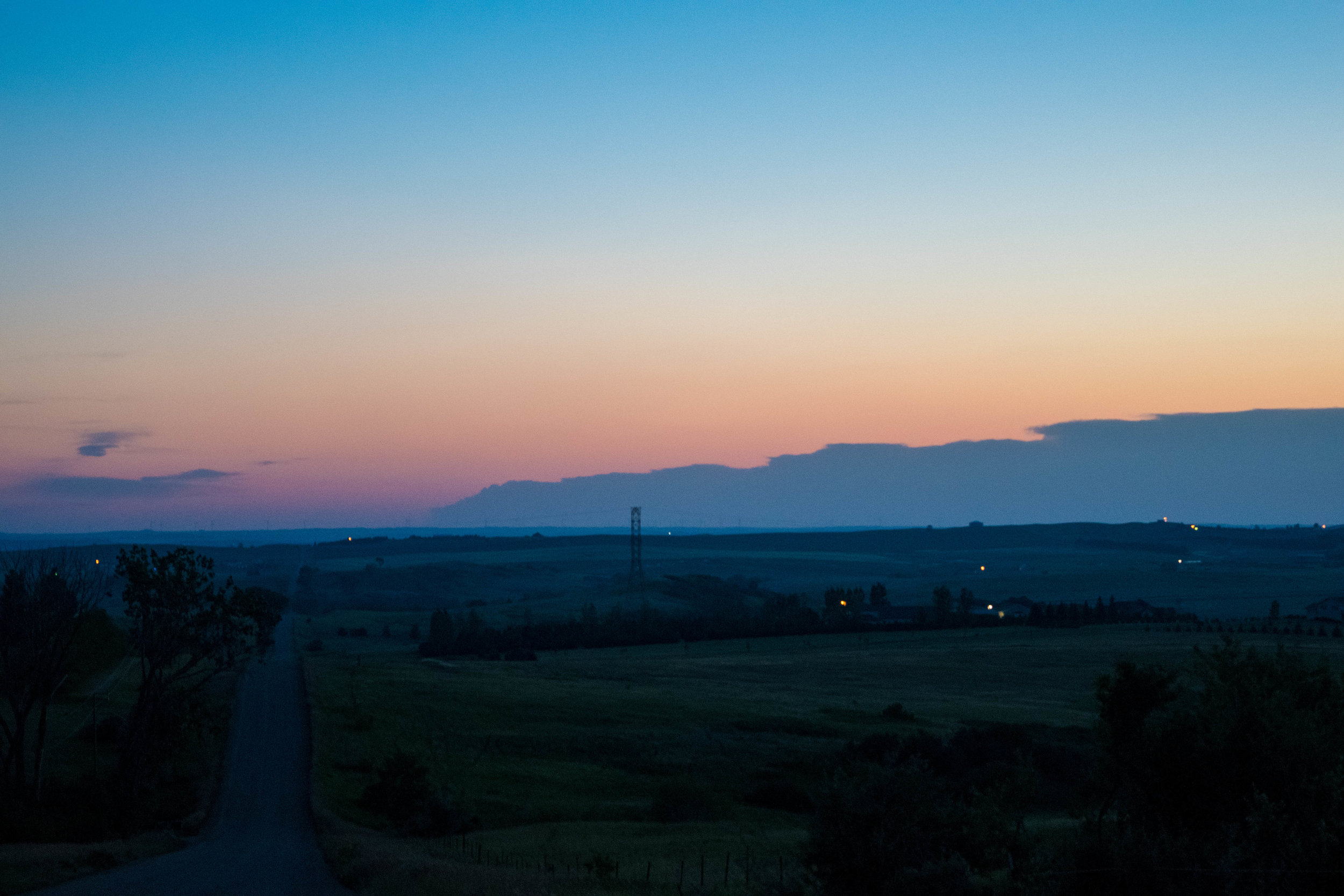 A North Dakota sunset in July.