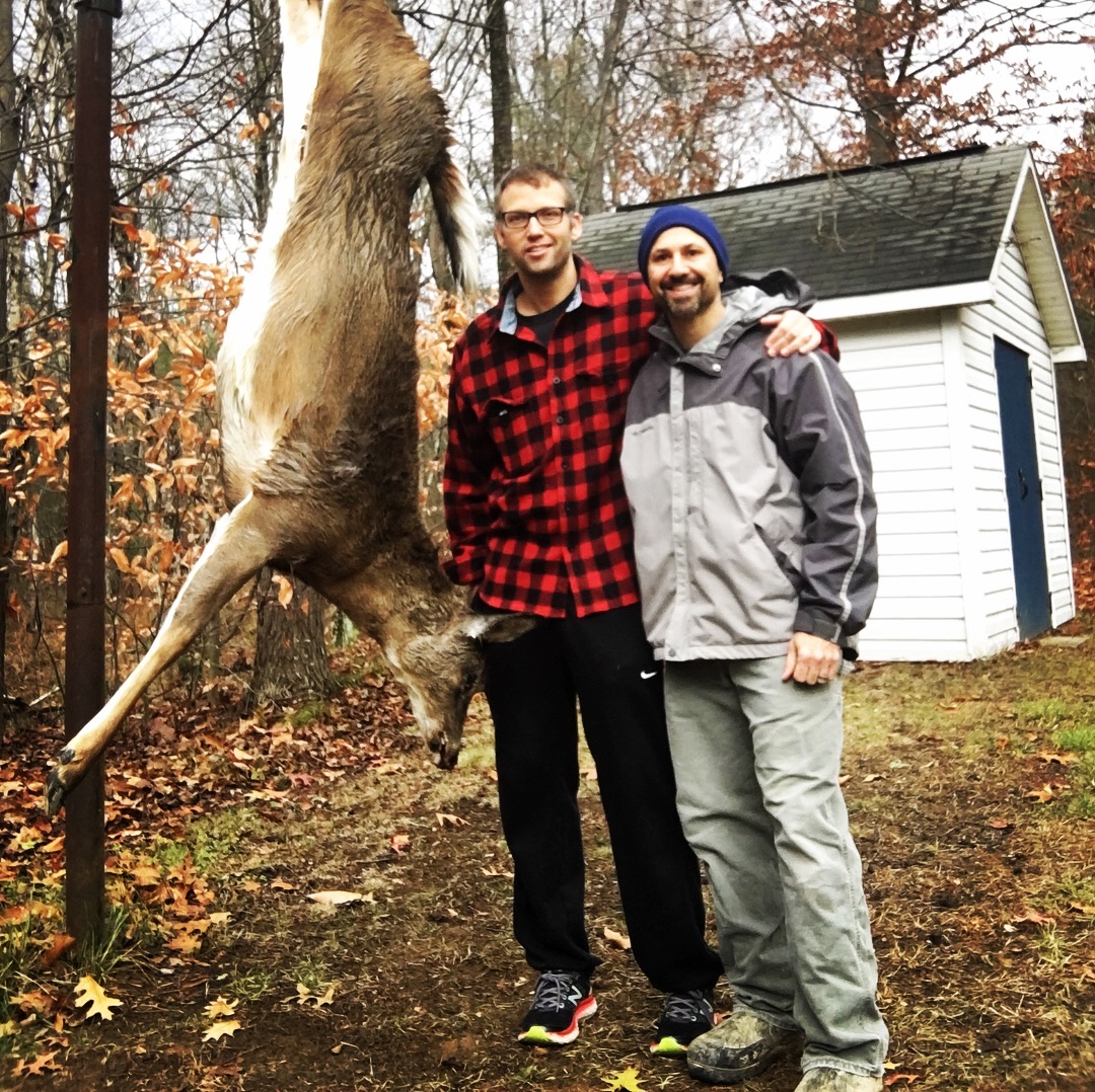 Matt Ross (right) with good friend Andy Fast (left) after Andy harvested a deer with Matt's mentorship.