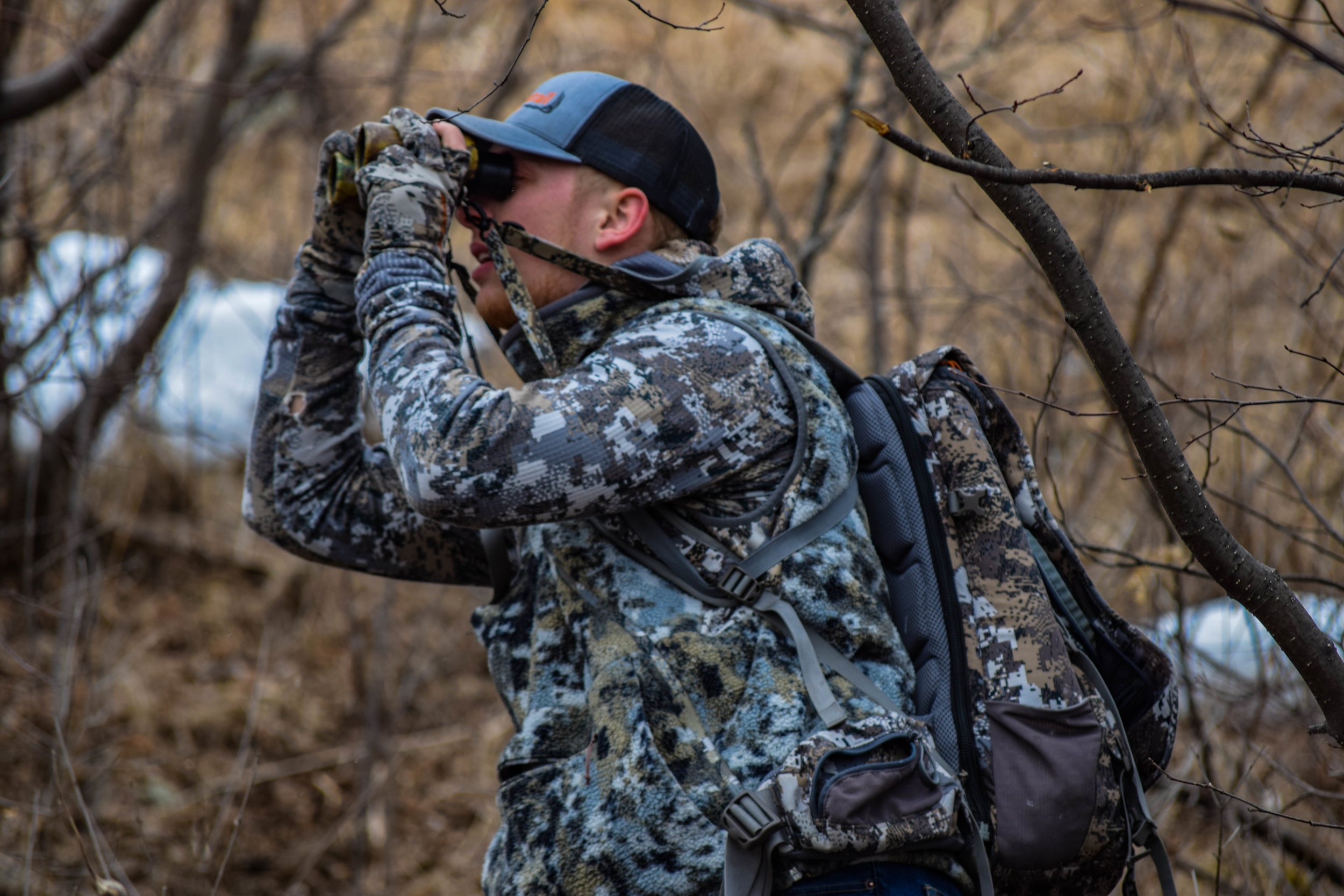 Binoculars are an important part of shed hunting.