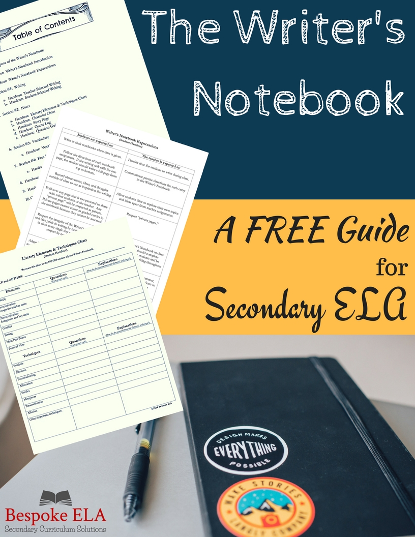 Click on the image above to download a copy of the Bespoke ELA FREE Writer's Notebook Guide.