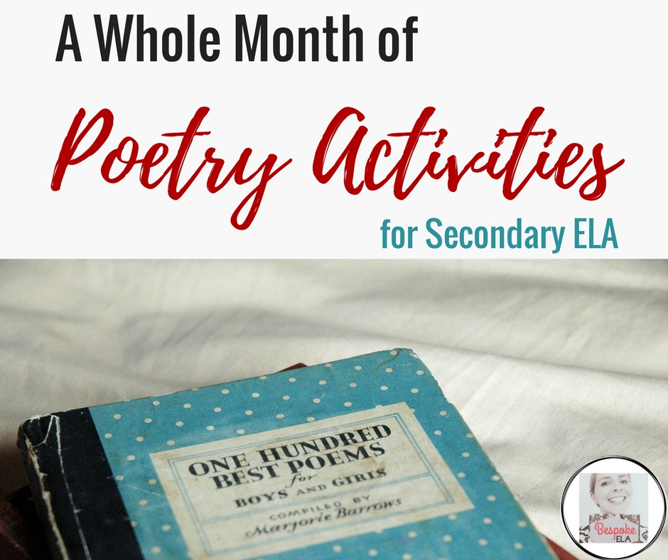 National Poetry Month A Whole Month Of Poetry Activities For