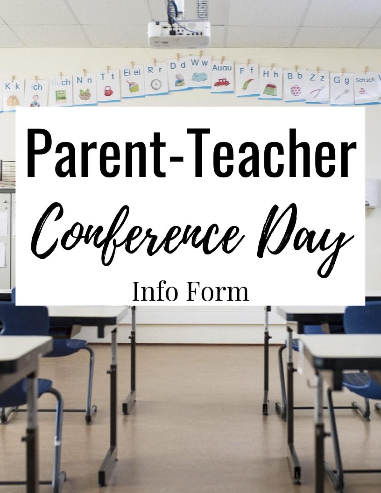 Parent-Teacher Conference Day Handout by Bespoke ELA1.jpg