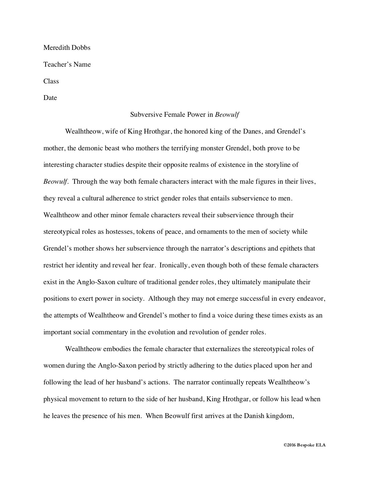 How To Sequence A Literary Analysis Essay Unit Bespoke ELA