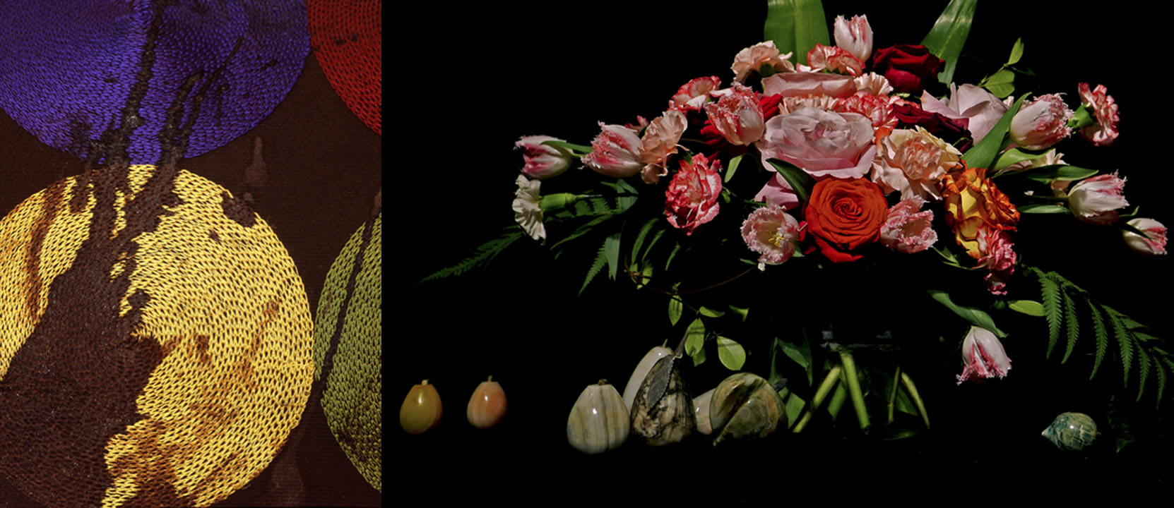 (L) Sarah Sudhoff,  Murder, Male , 40 years old (I), 2010. Archival Pigment Print, 40 x 30 inches. (R) Debra Barrera,  Quintanilla, Rosa , 2018. Archival pigment print.