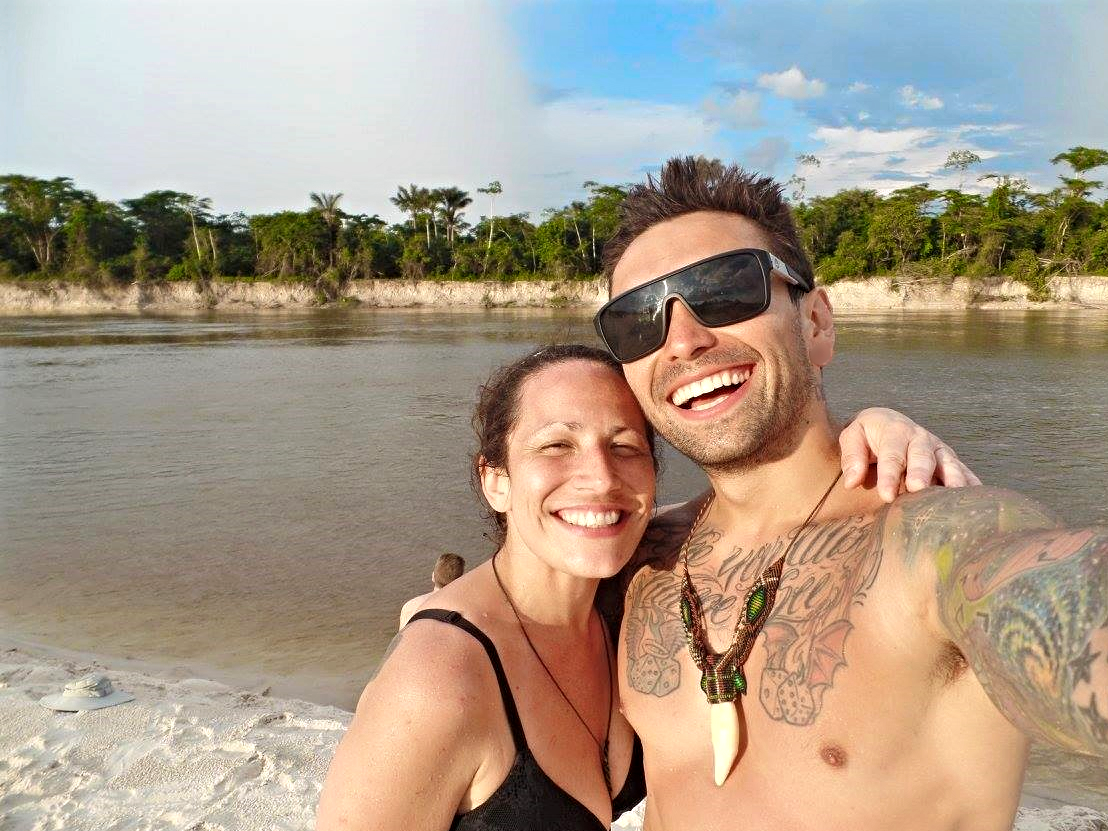 Nicole & I in front of the mighty Amazon River.