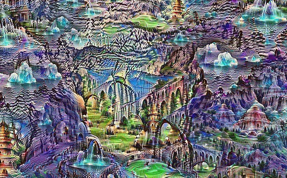 GOOGLE DEEP DREAM SIMULATION.