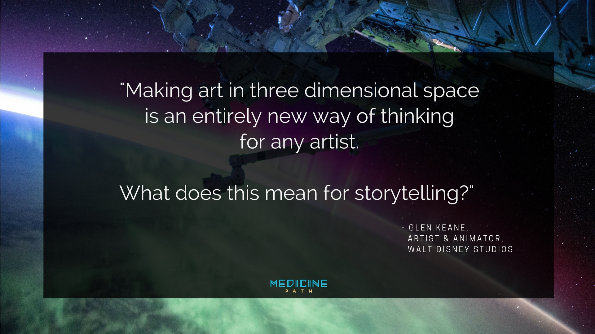 Psychedelics, Visionary Art, Virtual Reality & Healing. Glen Keane Walt Disney Step Into The Page