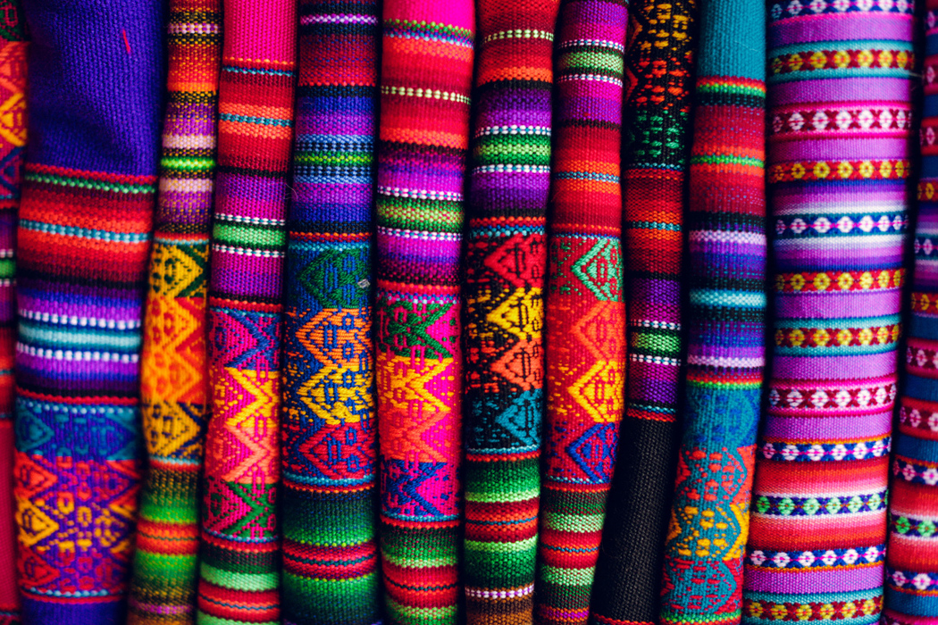 SUPER COLOURFUL ANDEAN TEXTILES AND BLANKETS