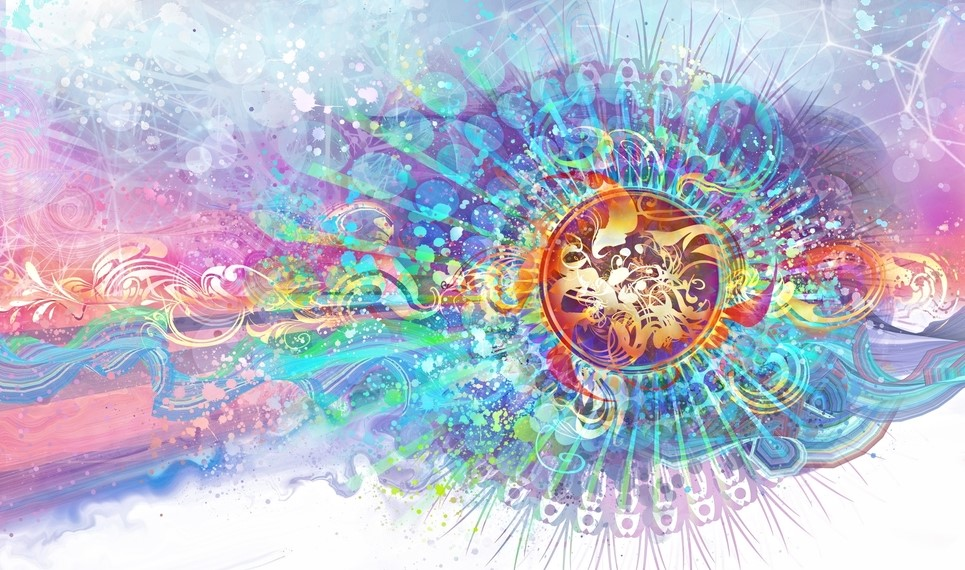 SIMILAR COLOURS TO WHAT I WAS EXPERIENCING DURING THIS VERY VISUAL MEDICINE CEREMONY. ARTWORK: Simon Haiduk
