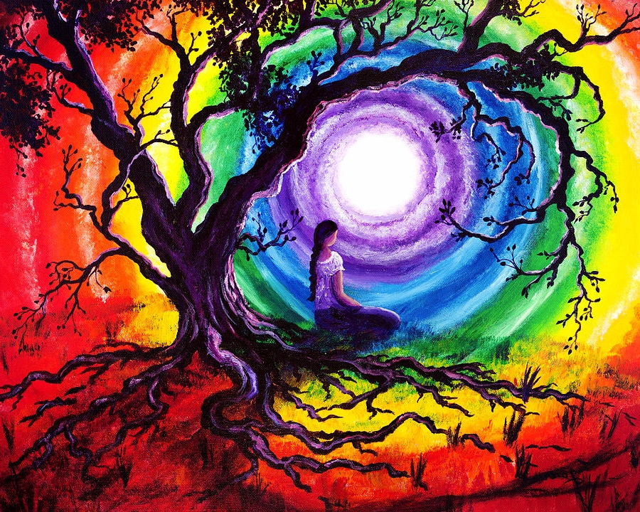 """Artwork: """"Tree of Life Meditation"""" by Laura Iverson"""